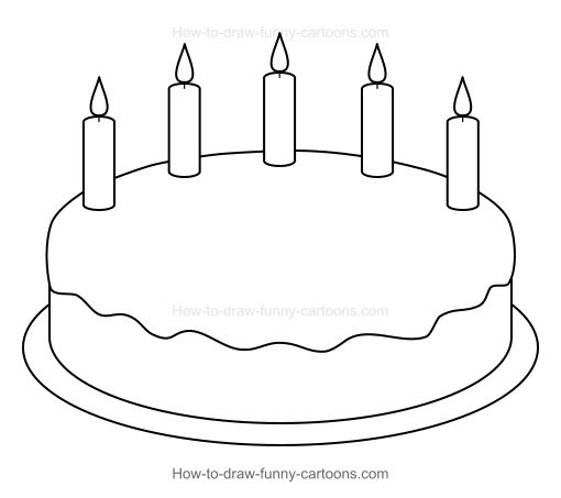 How to draw a. Cake clipart easy