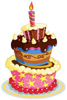 clip art birthday. Cake clipart fancy
