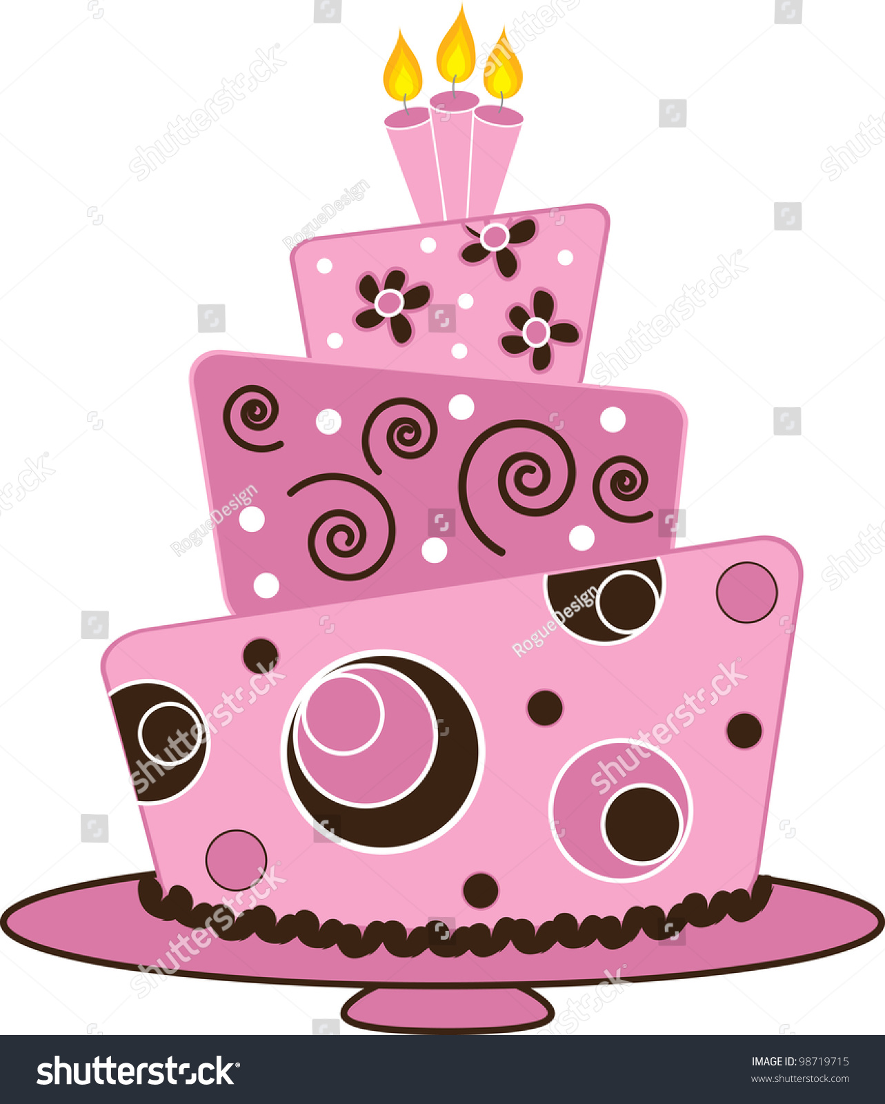 Cake clipart fancy. Royalty free stock illustration