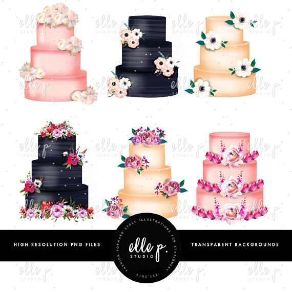 Cake clipart floral. Rustic cakes clip art