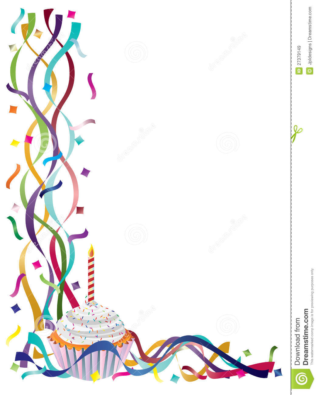 Free birthday borders and. Cake clipart frame