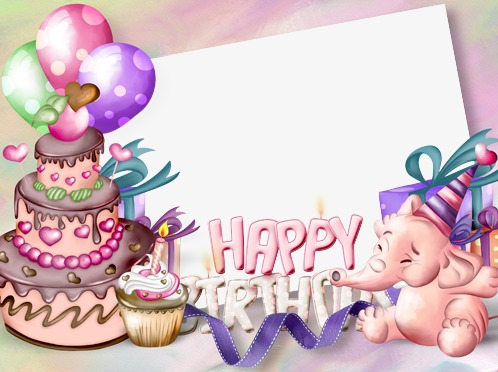 Cake clipart frame. Elephant birthday party png