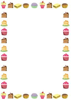 Cake clipart frame. This page border was