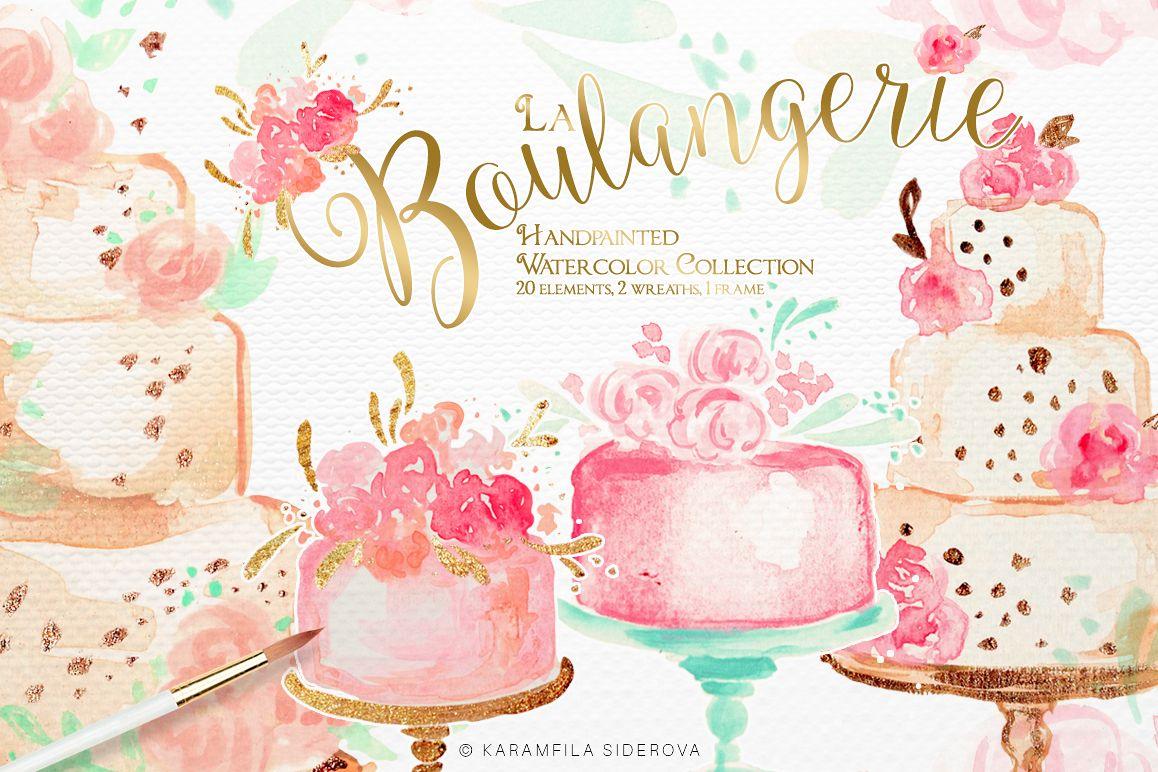 Cake clipart frame. Cakes by karamfila design