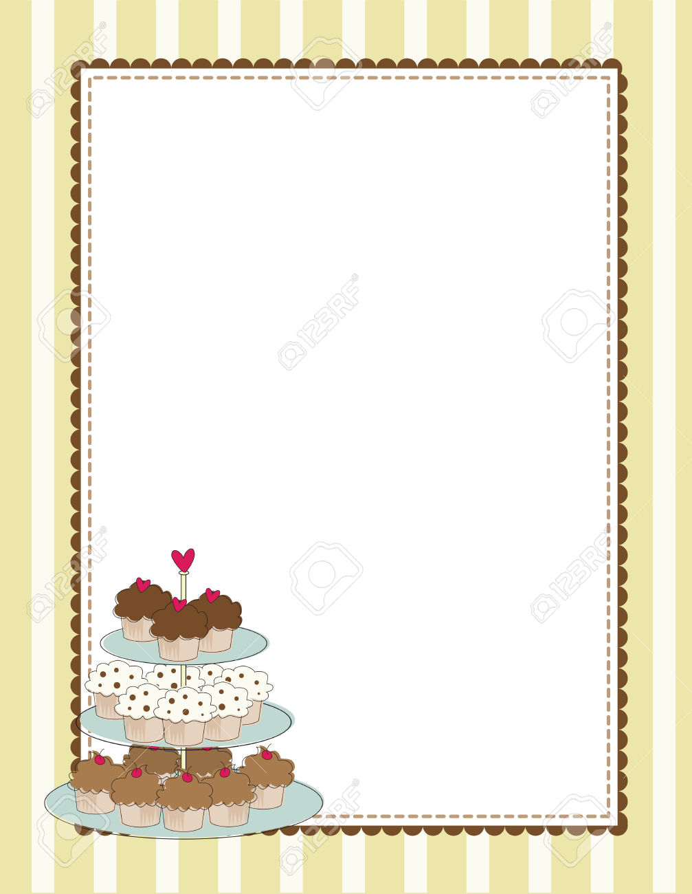 Muffin borders . Cake clipart frame