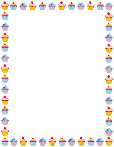 Pin by muse printables. Cake clipart frame