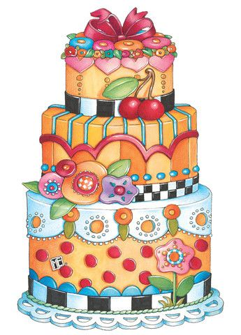 best clip art. Cake clipart funky