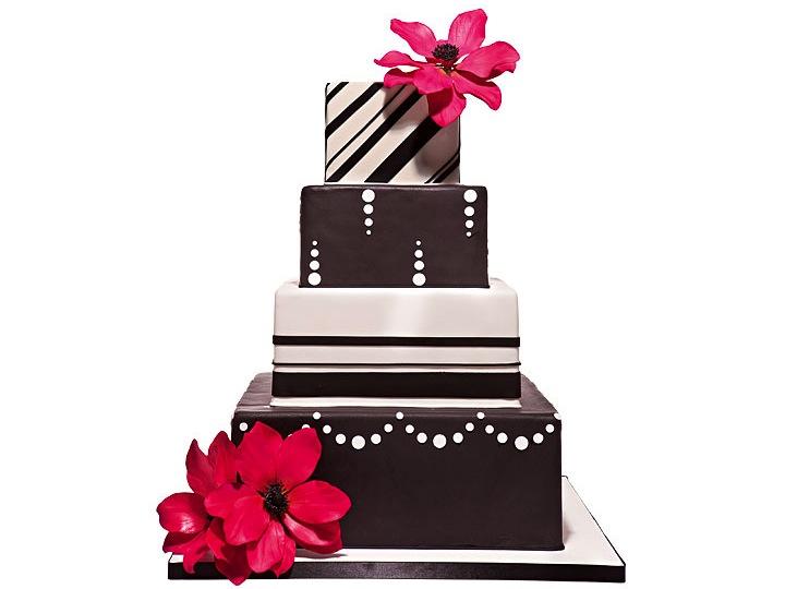 Modern wedding clip art. Cake clipart funky