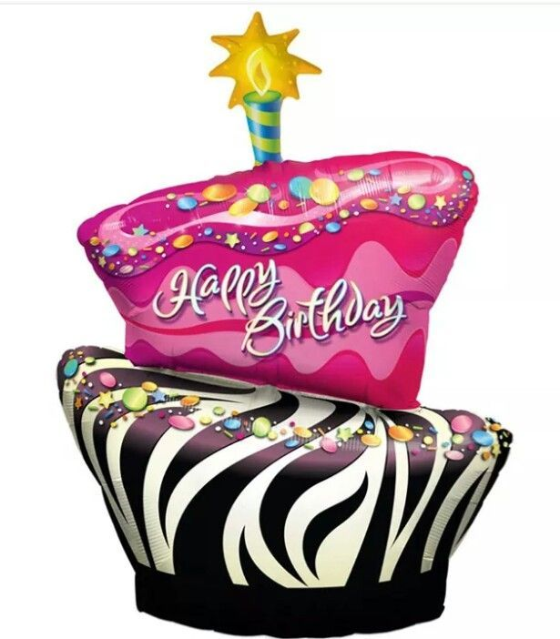 Happy birthday greetings pinterest. Cake clipart funky