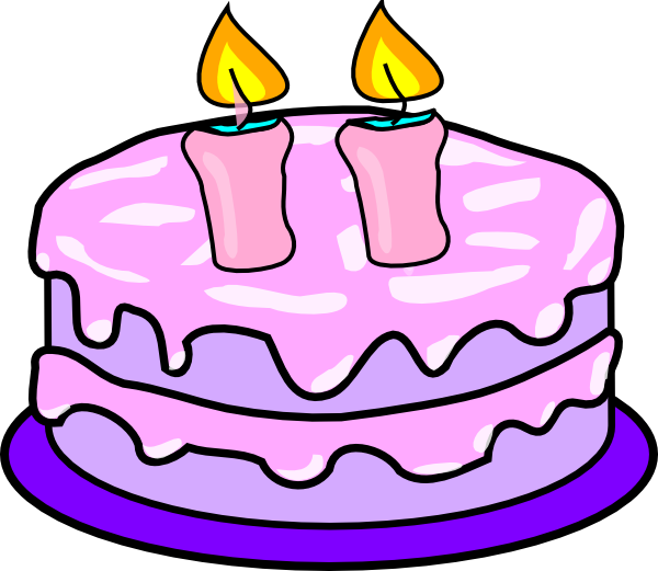 With candles clip art. Fraction clipart cake