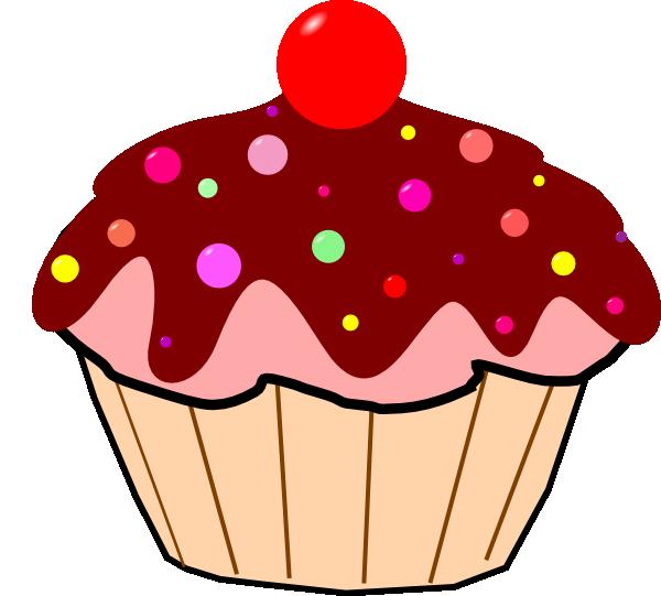 Vanilla cupcake gambar pencil. Clipart cake cute