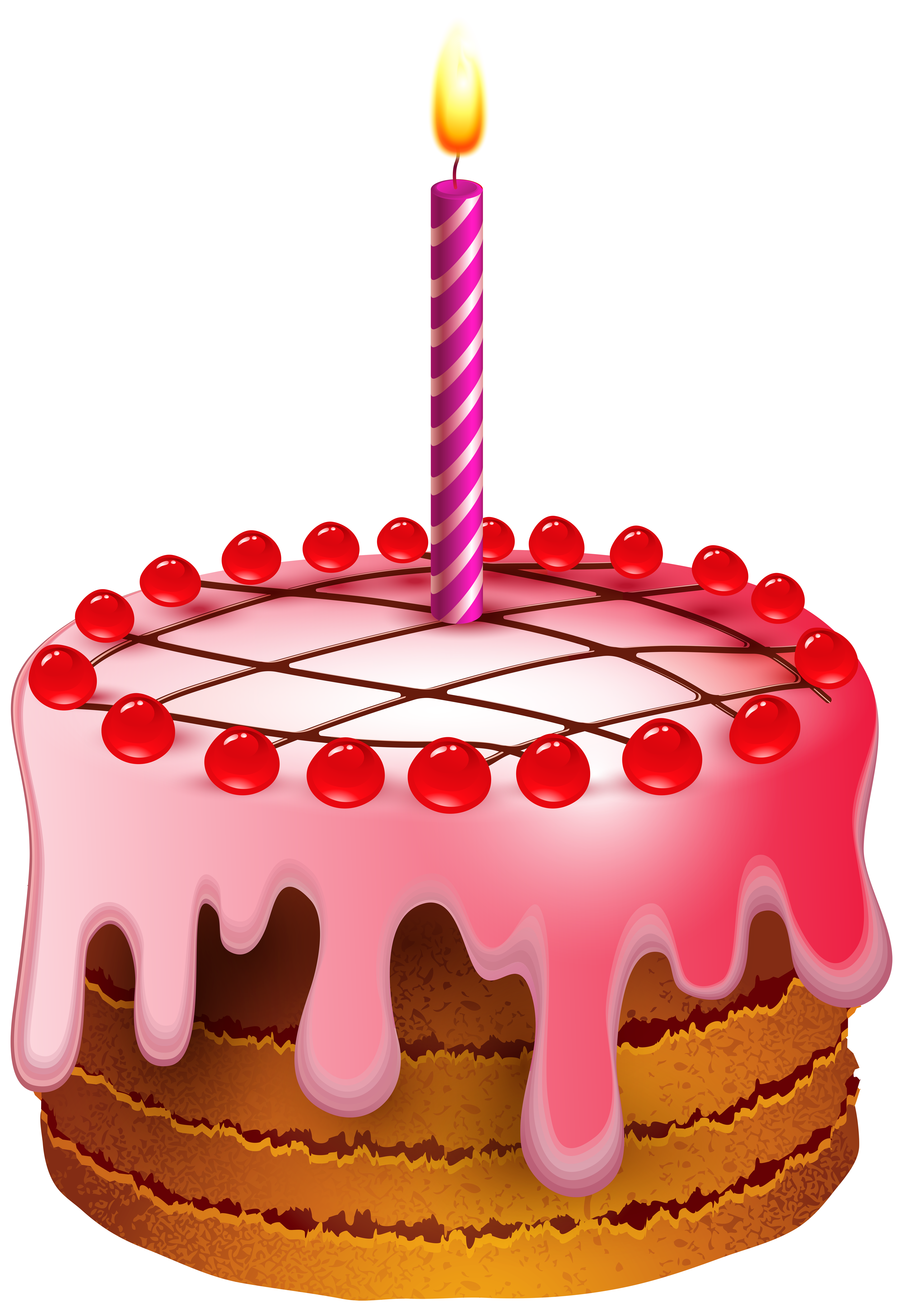 Birthday cake with transparent. Clipart candle pink candle