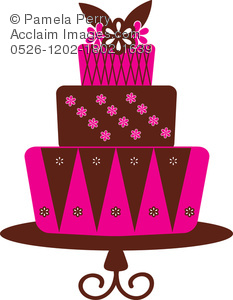Clip art illustration of. 3 clipart layer cake