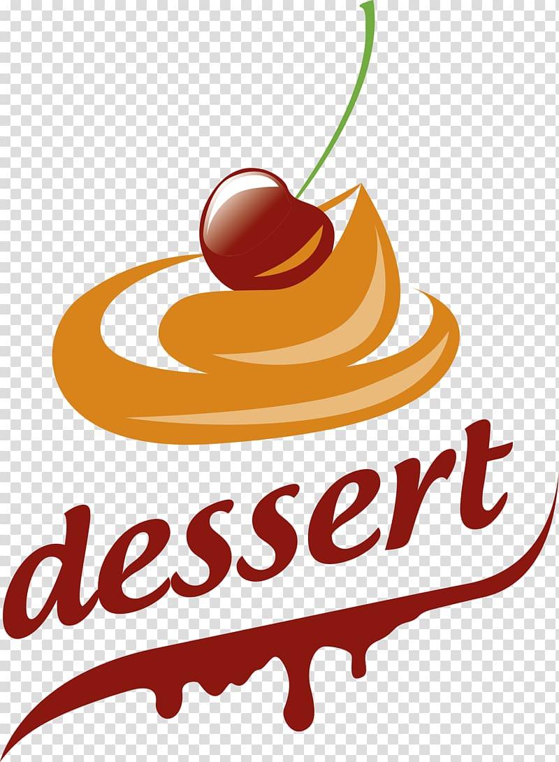 Desserts clipart logo. Dessert text cake transparent