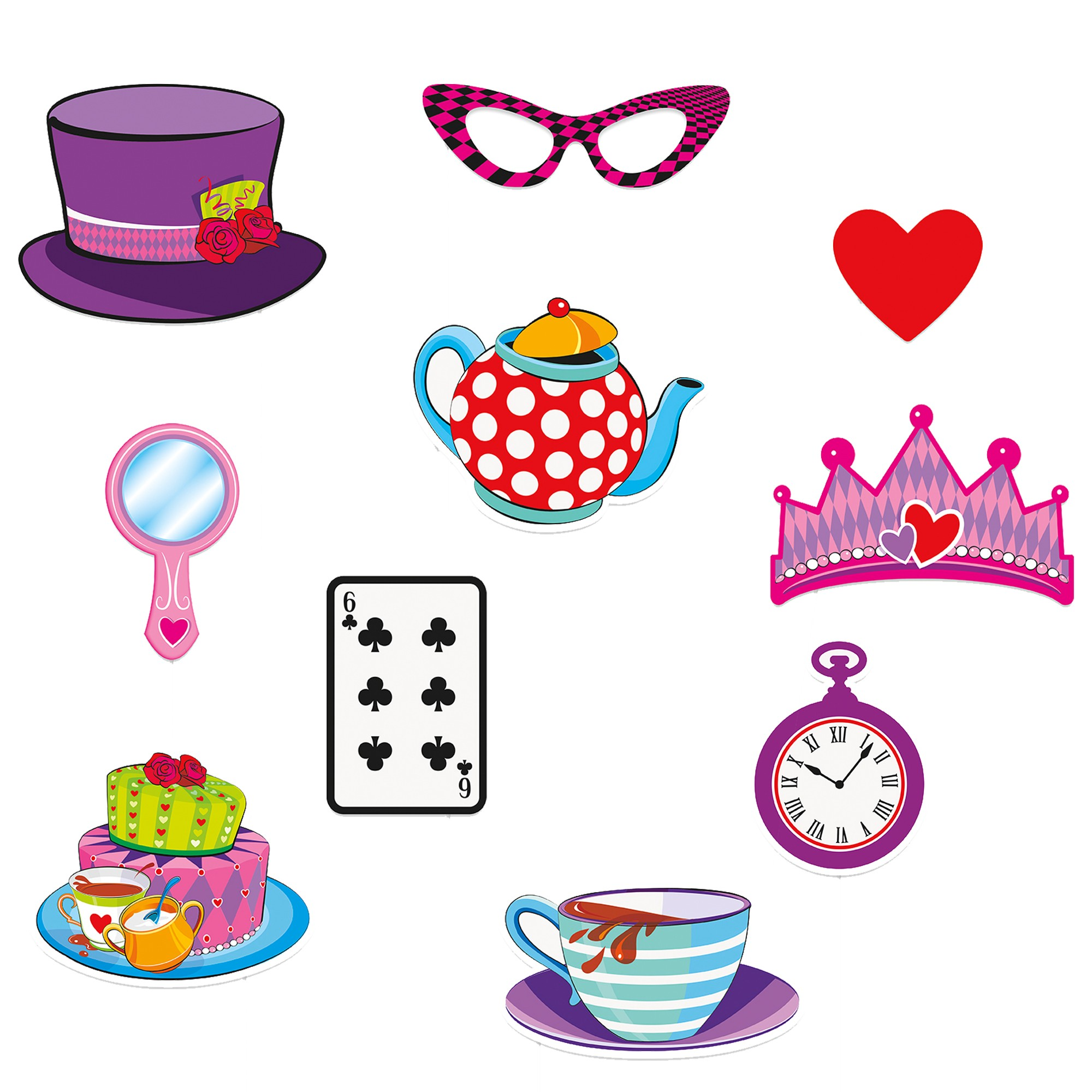 Photo props kid s. Cake clipart mad hatter