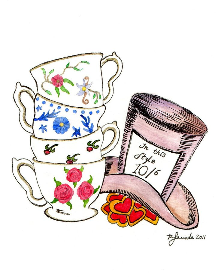 best hatters tea. Cake clipart mad hatter