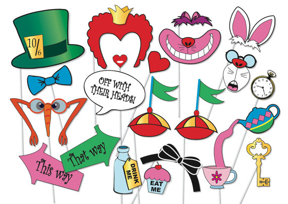 Cake clipart mad hatter. Tea party photo booth