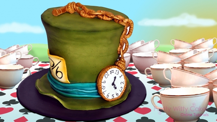 Alice in wonderland cakes. Cake clipart mad hatter