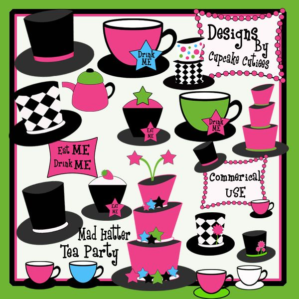 Product review illustrations cliparts. Cake clipart mad hatter