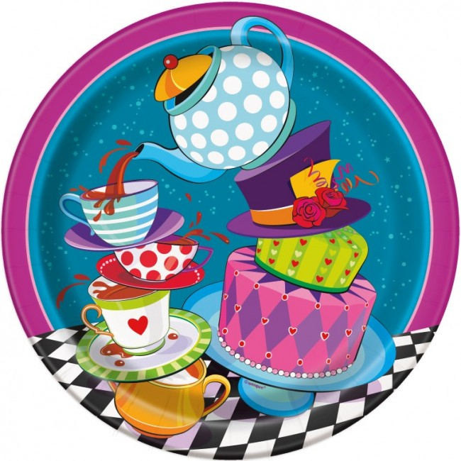 Cake clipart mad hatter. Tea party lunch paper