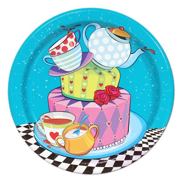 Cake clipart mad hatter. Dessert plates