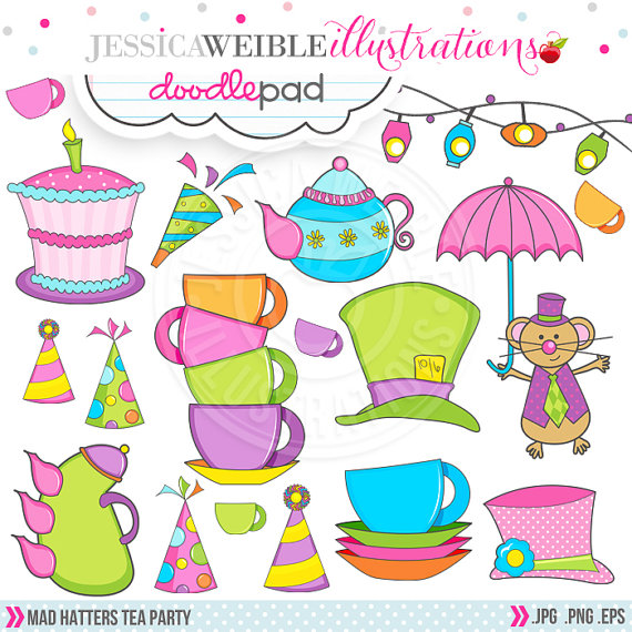 S tea party cute. Cake clipart mad hatter