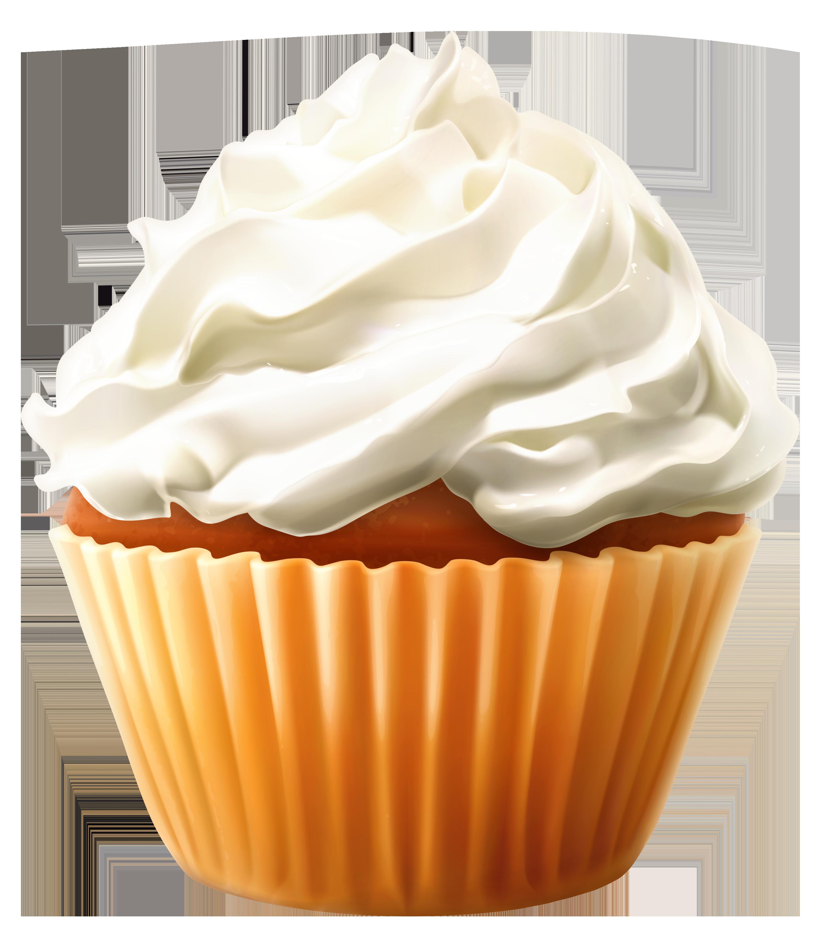 Whip clipart clip art. Mini cake with cream