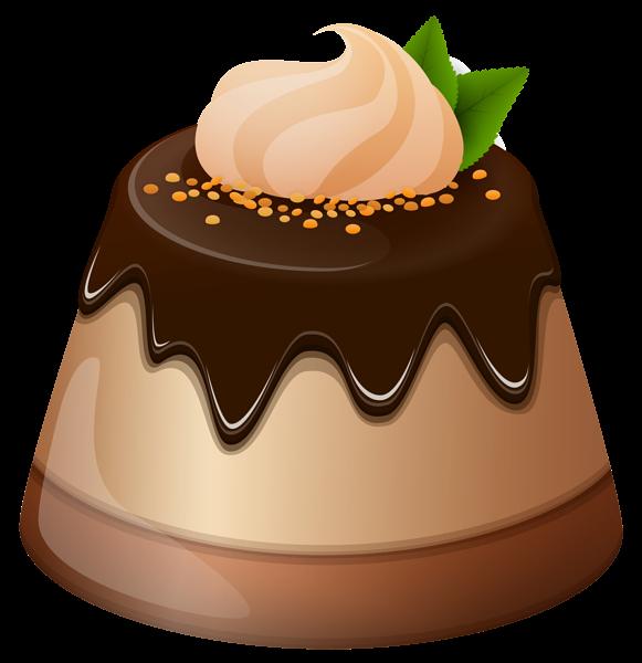 Chocolate mini cake png. Cute clipart dessert
