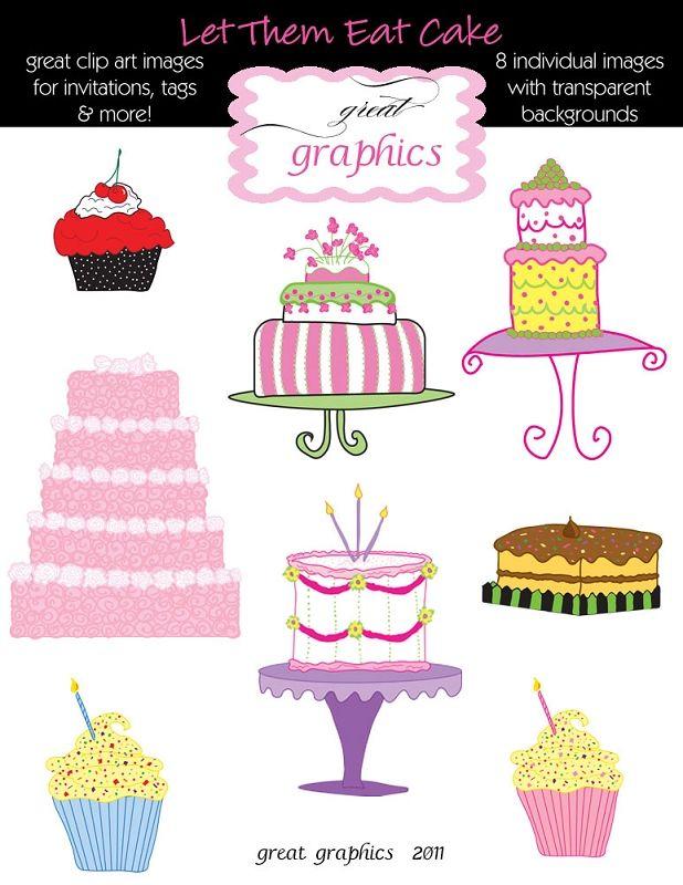 Cake clipart printable. Clip art digital cakes