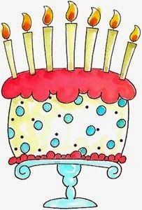 Pink with candles png. Cake clipart printable