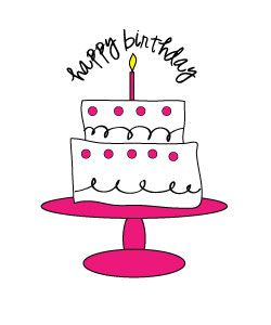 Cake clipart printable. Free birthday for craft