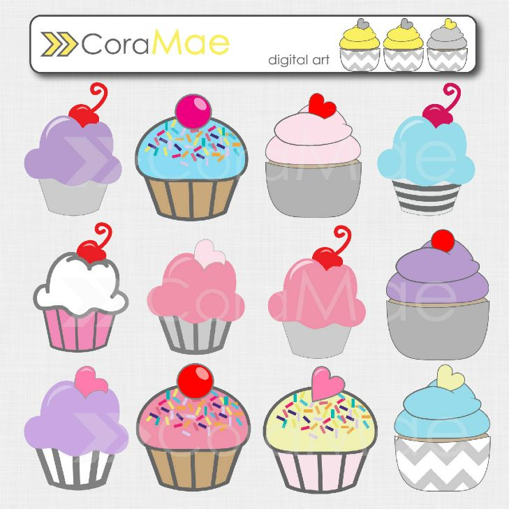 Cake clipart printable.  best muffins images