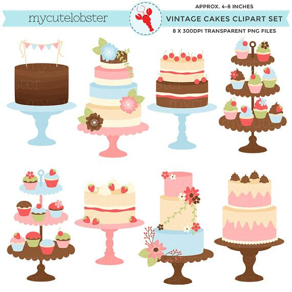Cool Cake Graphics Birthday Cake Clipart Food Clipart Digital Download Personalised Birthday Cards Veneteletsinfo