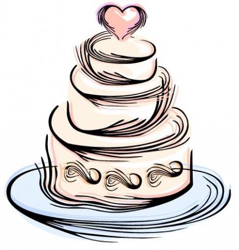 Cake clipart silhouette. Wedding topplabs org elegant