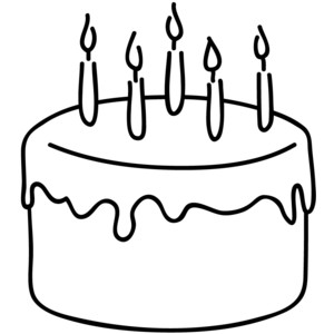 Clipart cake simple.  collection of easy
