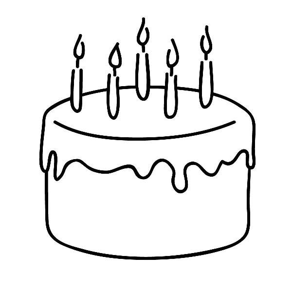 Birthday clip art free. Clipart cake drawing
