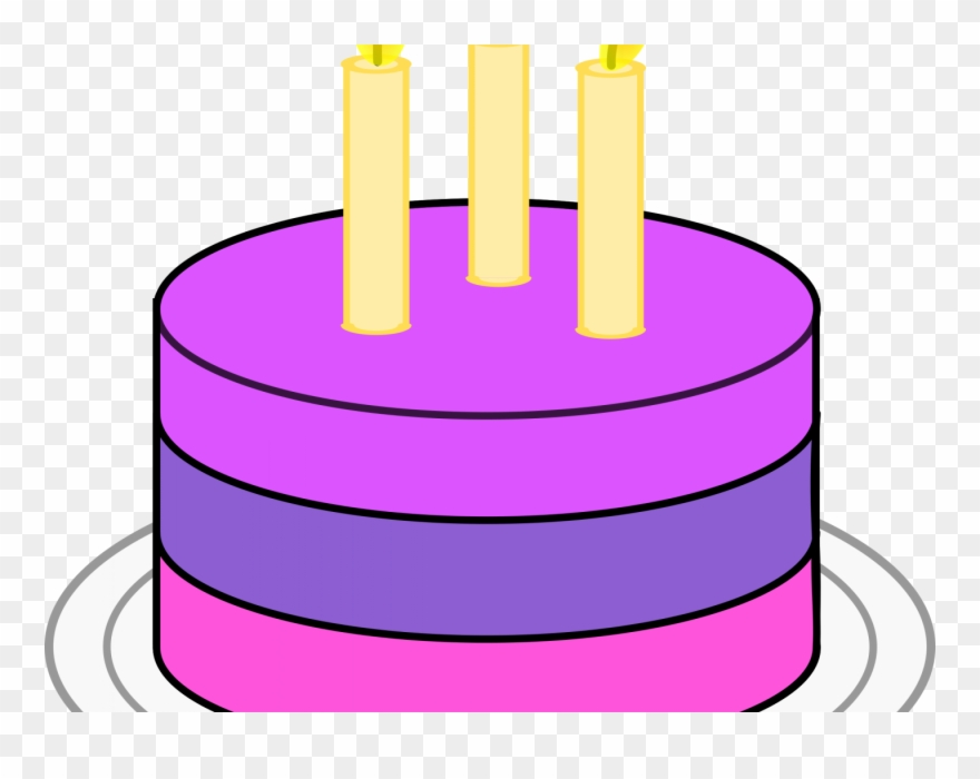 Clipart cake simple. Birthday art png