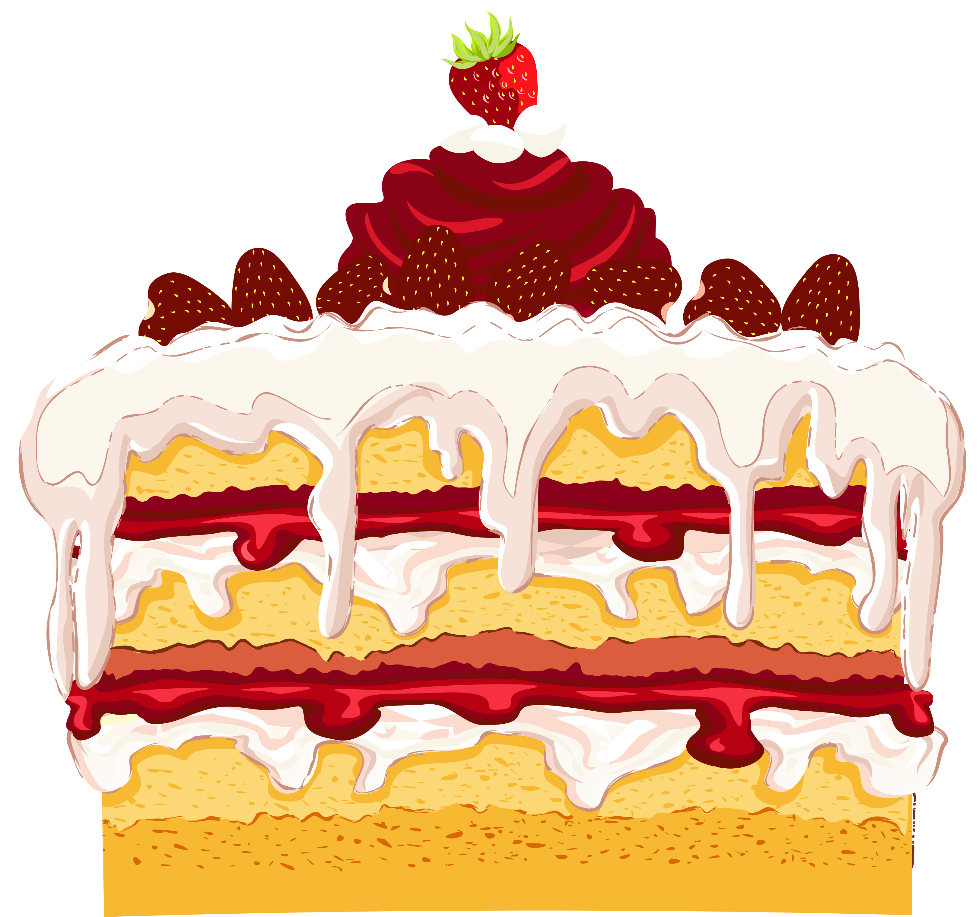 Strawberry png gallery yopriceville. Red clipart cake