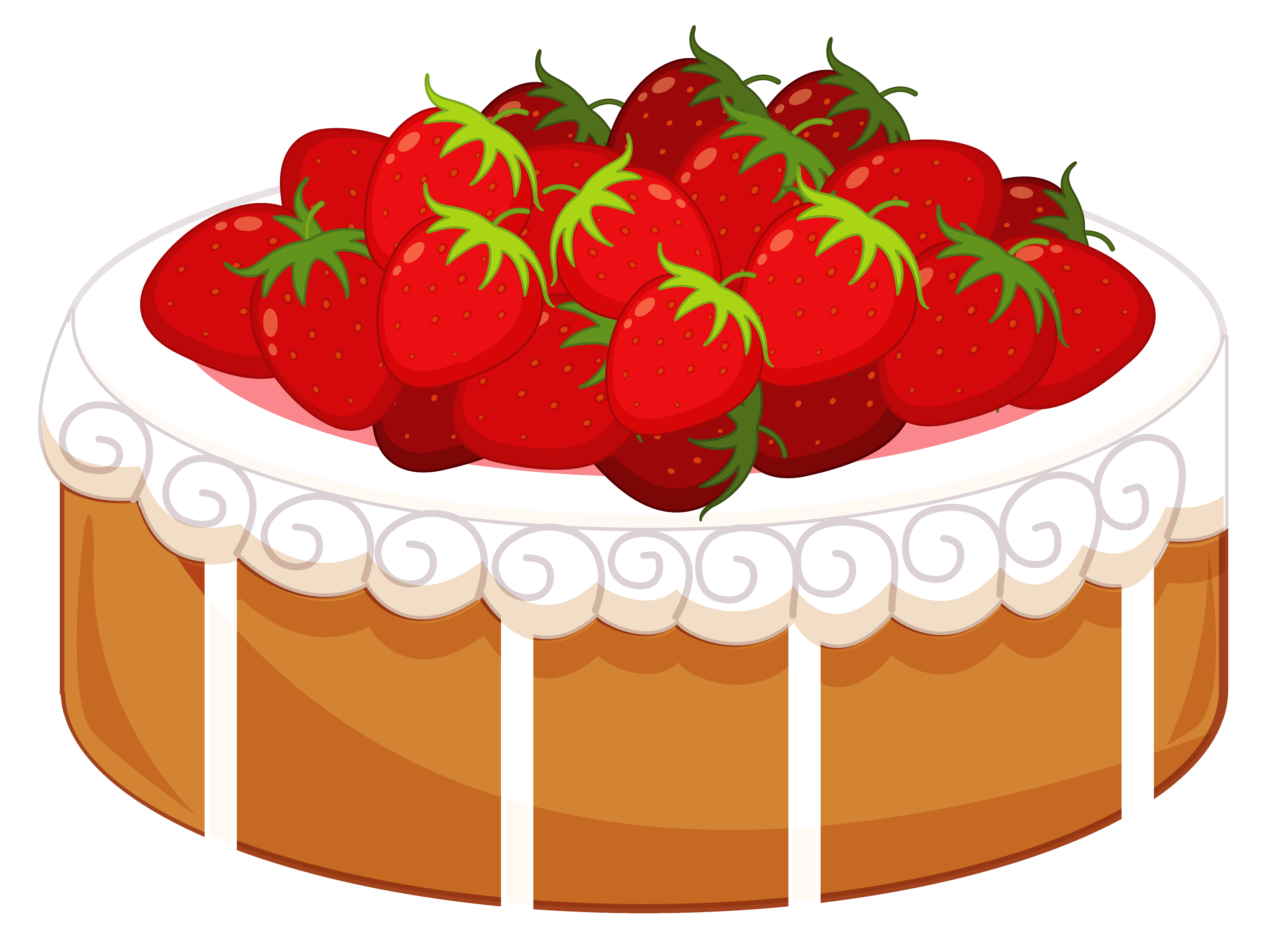 Pie clipart overhead. Strawberry cake