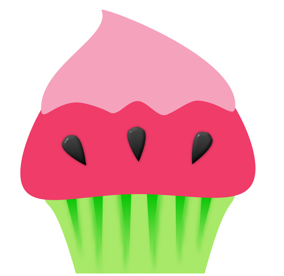 Clipart cupcake silhouette. Free summer cake