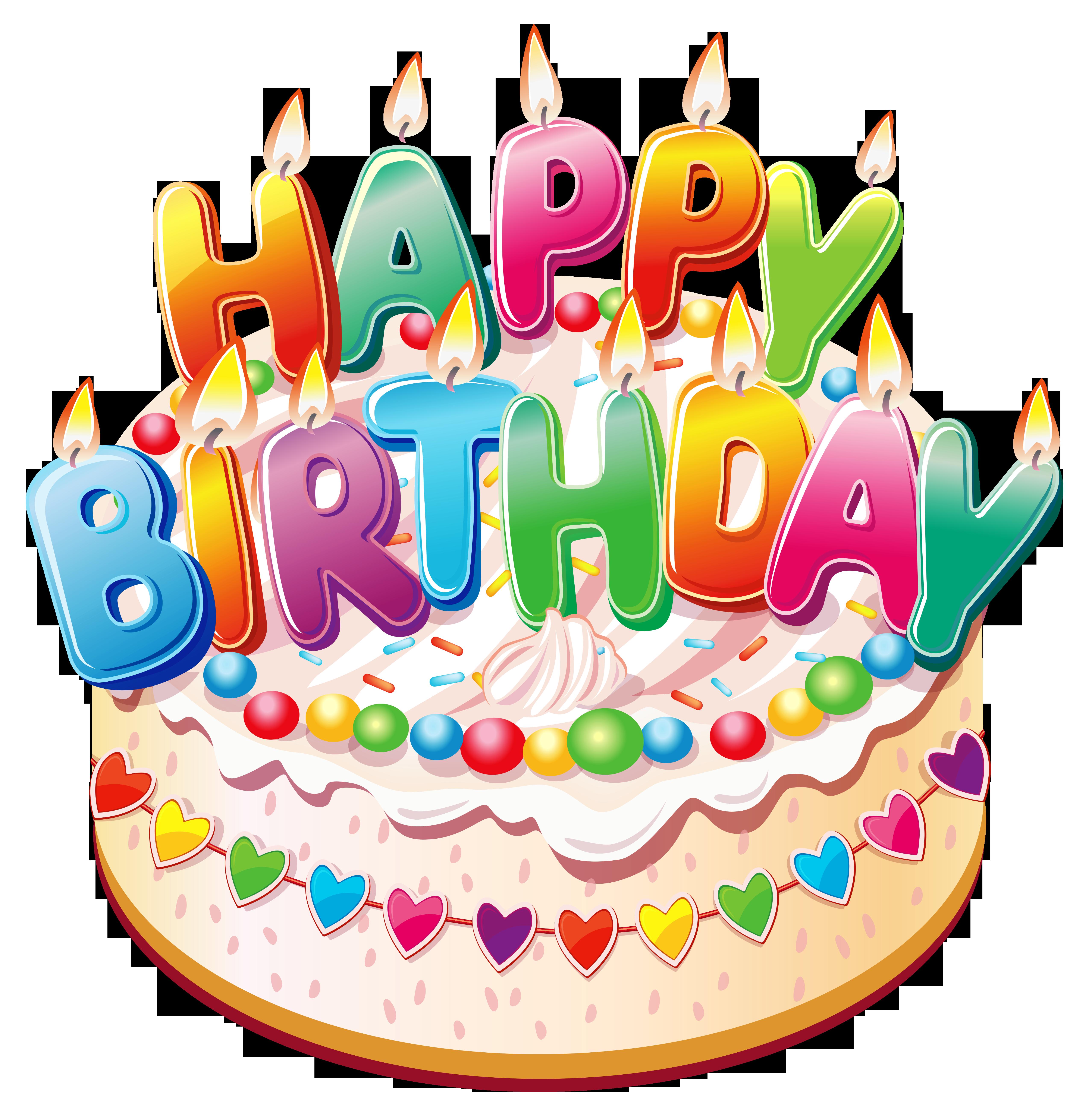 Funny birthday . Make clipart cake