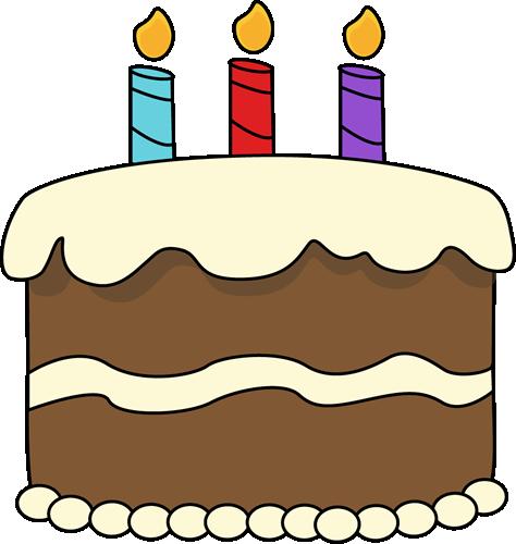 3 clipart cake. Chocolate birthday clip art
