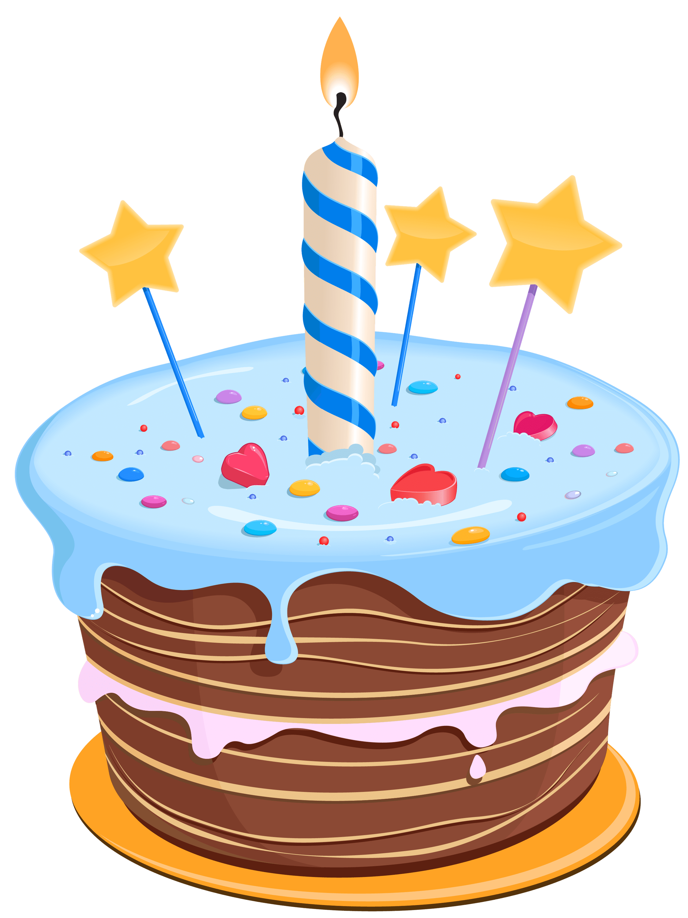 Cake clipart transparent background. Birthday drawing blue png