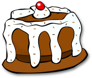 Chocolate clip art at. Cake clipart vector