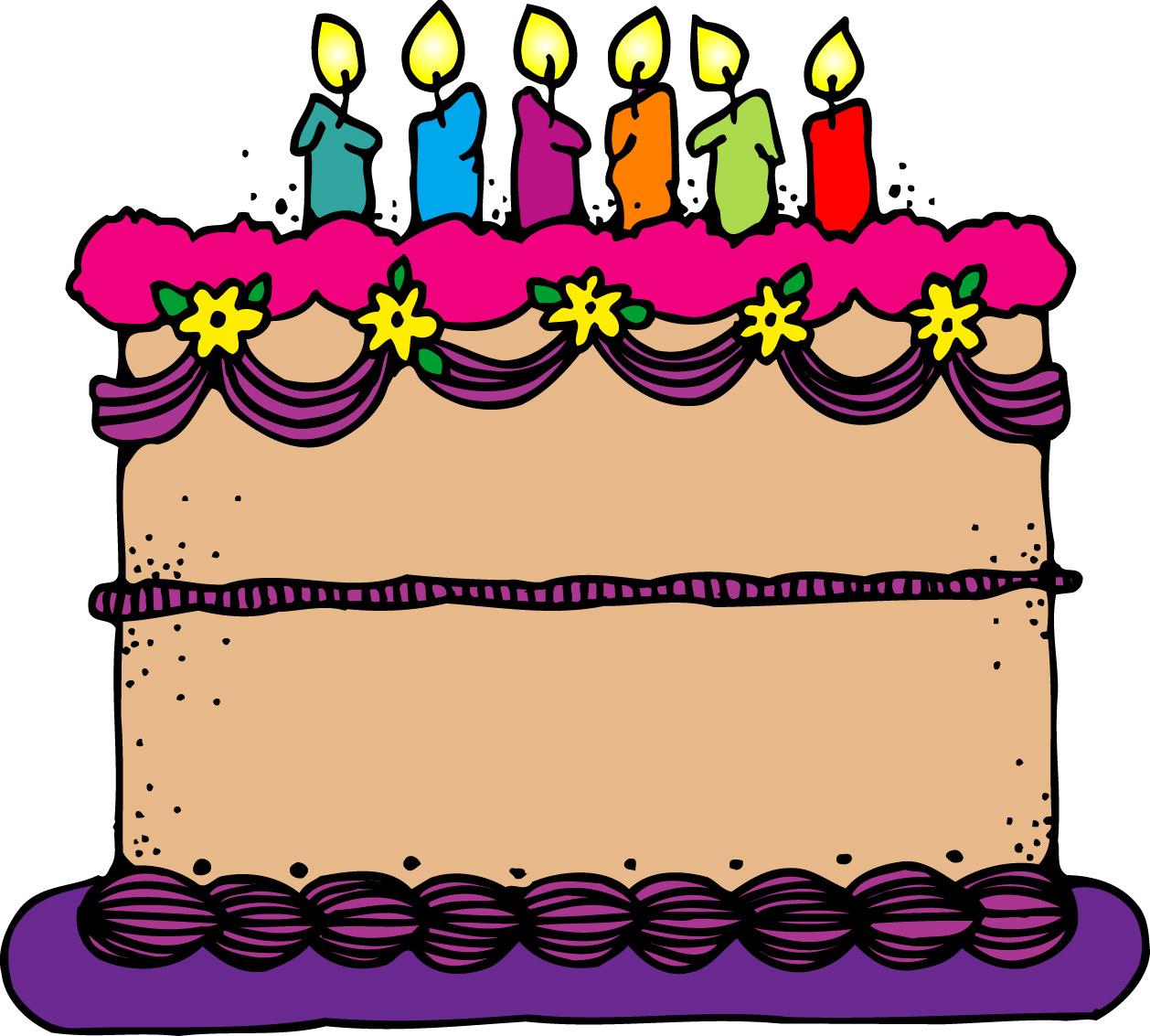 Happy birthday free for. Cake clipart vector