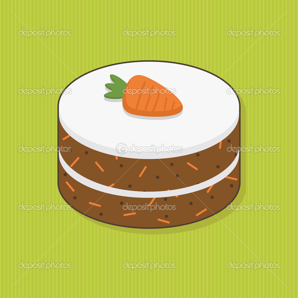 Carrot clipground. Cake clipart vector