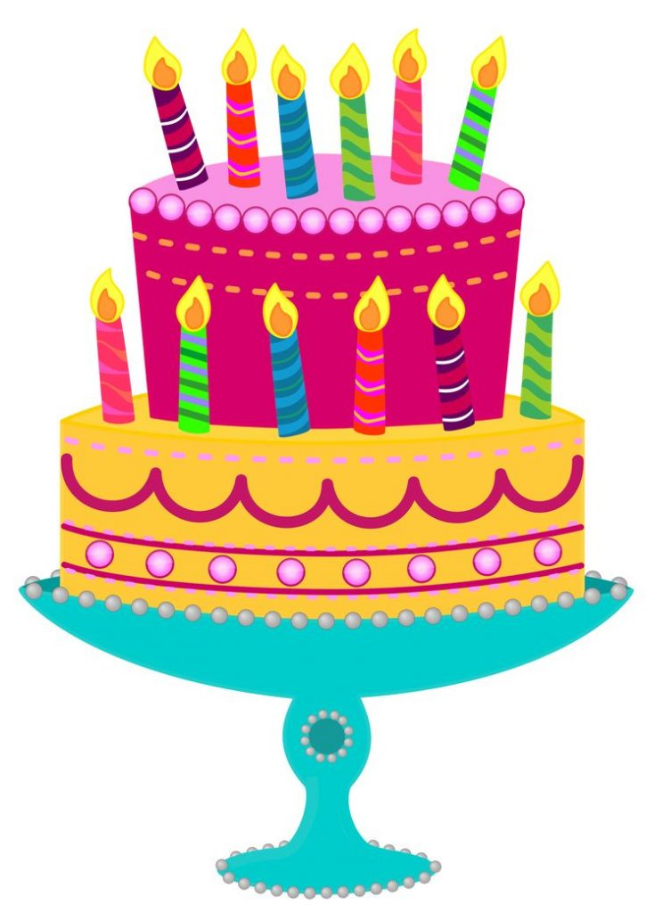 Cake clipart vector. Free birthday images background