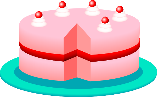 Cake clipart vector.