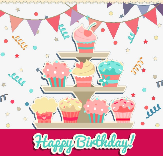Cake clipart vector. Cartoon birthday png and
