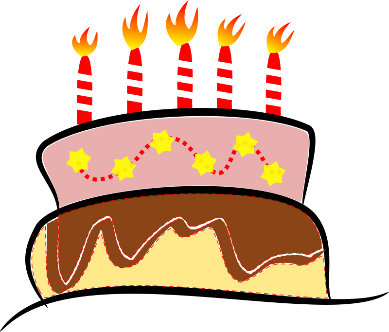 Free fifth bday. Clipart cat birthday cake